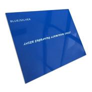 Aluminio Bicapa Laserables 0,45mm X4 Unidades Azul / Plata