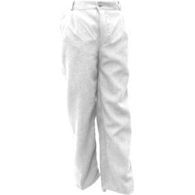 Pantalón Escolar Con Resorte Polilana Blanco 4 A 16