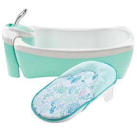 Bañera De Lujo Bebe Tina Hidromasaje Spa Summer Infant Azul
