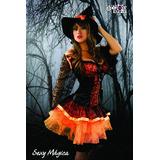 Disfraz Hechicera Bruja Magica Mujer Adulta Envio Gratis