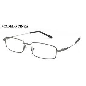 Armação Óculos Grau Quadrada Haste Titânio Flexível Unissex
