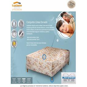Melto Conjunto 2 Plazas Resorte Dorado 140x23 (82-737)