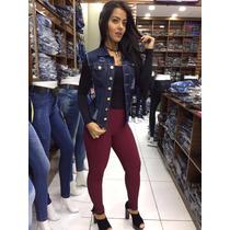 Colete Femininho Casaquinho Jeans Tendencia Blogueira Moda