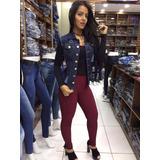 Colete Jeans Curto Panicat Moda Gola Insta Juju Blogueira