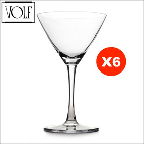 Copa Cocktail Martini De Cristal Volf ® Lexington Set X6