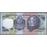 Uruguay 50 Nuevos Pesos Nd1987 P61d Serie E