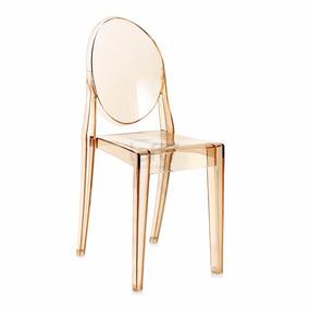 Cadeira Acrílica Sophia Sem Braços - Ambar - Sofia
