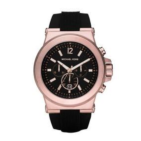 65131badfca68 Relógio Michael Kors Mk8184 Preto E Rose Masculino Na Caixa - Joyas ...