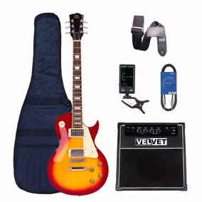 Les Paul Sx Amplificador 35w Velvet Guitarra Funda Afinador