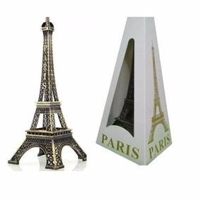 30 Enfeite Miniatura Metal Torre Eiffel 13cm Paris Decoração