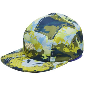 41b26857554e9 Boné Aversion Paint Strapback Five Panel Aba Reta Camuflado