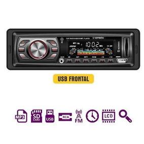 Som Carro Auto Radio Fm Usb Mp3 Pen Drive Cartão Sd Aux 01un