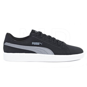 Tenis Puma Smash Negro/gris Hombre 100% Originales 36516001