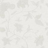 Papel De Parede Natural Vinílico Cinza Flores 1400 Bobinex