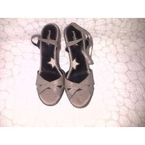 Sandalias De Plataforma Importada Talla 40 Color Nude