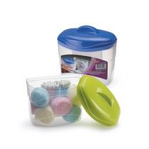 Porta Algodão E Cotonete Plástico Higiene Nitron