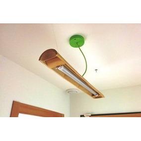 Lampara Rustica De Bambú Colgante Con Tubo Led T8 18 Watts
