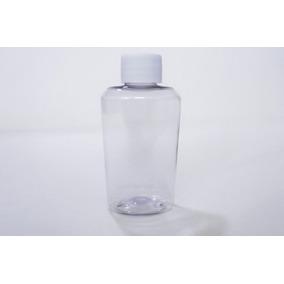 Kit 100 Piezas Botella Hotelera Pet Cristal 60 Ml Con Tapa
