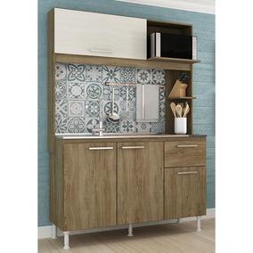 Cozinha Compacta Novo Tempo Núbia 4 Portas - Malbec/decapê