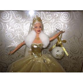 Barbie Felices Fiestas Navidad 2000 Mattel Vestido Dorado