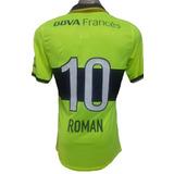 Camiseta Boca Juniors 2014 Verde Fluor Roman 10 Small
