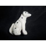 Dalmata Perro Perrito Manchita Miniatura Porcelana Figura