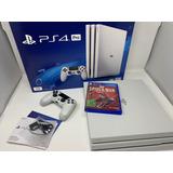Playstation 4 Pro Blanca, 1 Tera, 2 Mandos + Juego De Regalo