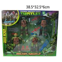 Tartarugas Ninja 4 Bonecos Com Projetor E Acessórios