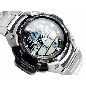 Relógio Casio Outgear Sgw-400-hd Altimetro Barometro Aço Ga1