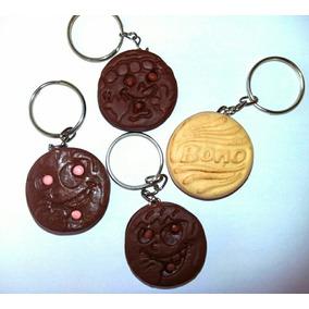 Kit 4 Chaveiros Biscuit Biscoito Recheado Trakinas E Bono
