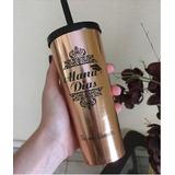 30 Long Drink Metalizado Com Tampa E Canudo Personlizado