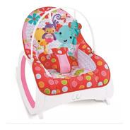 Cadeira Cadeirinha De Descanso Girafas Safari Vermelha Rosa