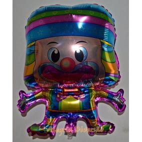 Balão Metalizado Palhaço 55x45cm - Kit C/ 10 Balões