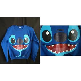 Sudadera Chamarra Sueter De Stitch Lilo Disney Azul