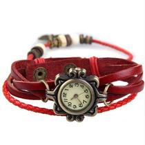Relógio Feminino Pulseira De Couro Modelo Antigo !!!