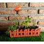 Jardinera 3 Plantas Aromáticas O Florales Y Tutor Decorativo