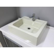 Cuba/pia De Apoio Para Banheiro Gênova Bege + Válvula Click