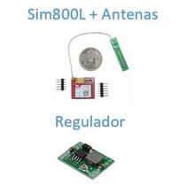 Sim800l + Antenas + Regulador Sim800 Arduino
