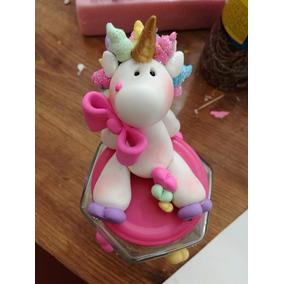 Frasco Decorado Unicornio Pasta Flexible Recuerdo