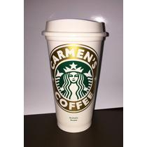 Vaso De Starbucks Personalizado C/tapa Original Kit Con 2