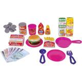 Brinquedo Cozinha Menina Panelinhas D Lanchonete Lanche Crec