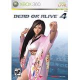 Tecmo Dead Or Alive 4 Para Xbox 360 Subtitulos En Español