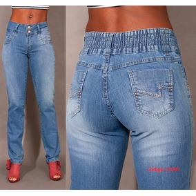Calça Azul Plus Size 941 Tamanhos 44 A 48 Lycra Cintura Alta