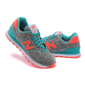 new balance mujer verde y rosa
