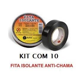 Fita Isolante Anti Chama Afa 18mm X 20m Kit 10 Unidades