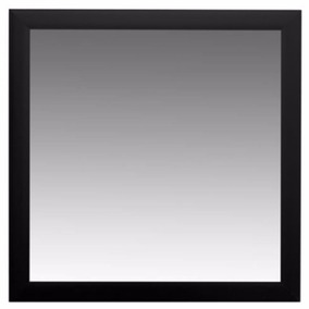 Espejo Cuadrado Marco Negro Símil Madera 57,5x57,5cm