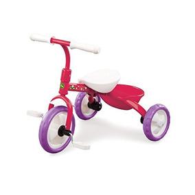 John Deere Acero Triciclo Rosado