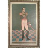 Cuadro Simon Bolivar Litografia Enmarcada