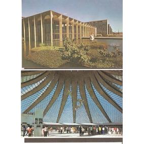 2 Cartões Postais Brasília Df. Itamaraty E Catedral.