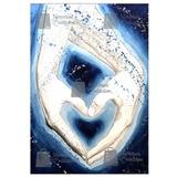Litografia Moderna Oleo Corazón Azul Little Memories